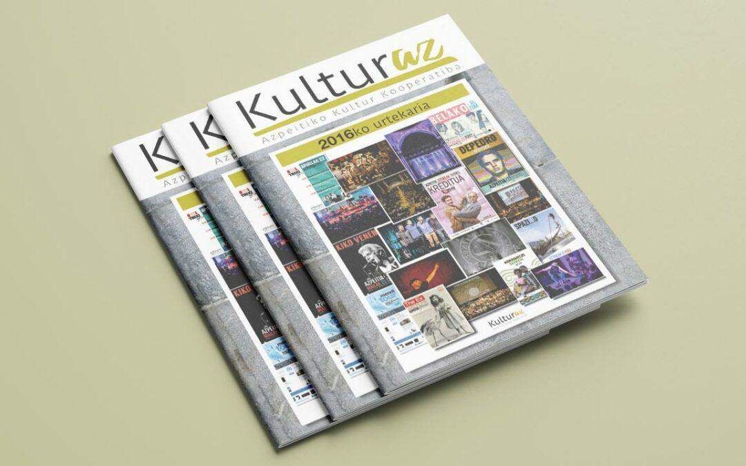 Kulturaz 2016ko urtekaria