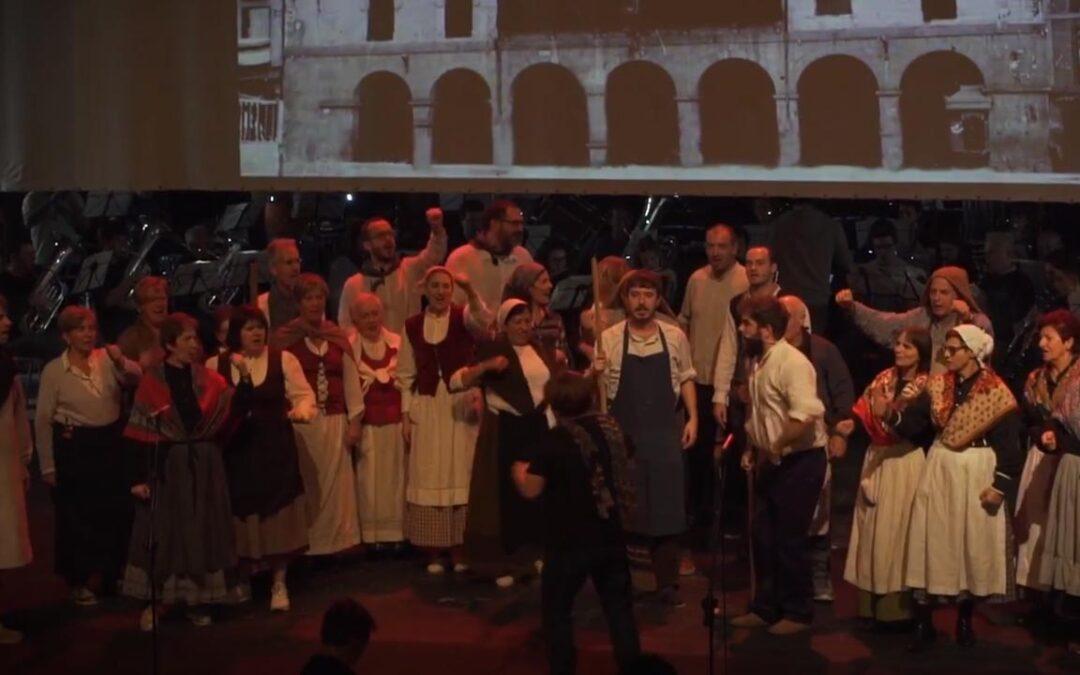 Matxinada herri antzerki musikatuaren entsegua